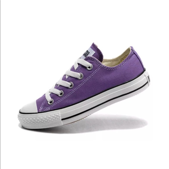 new images of superior quality low cost Purple Low Top Converse Size 8 Women's 6 Men's